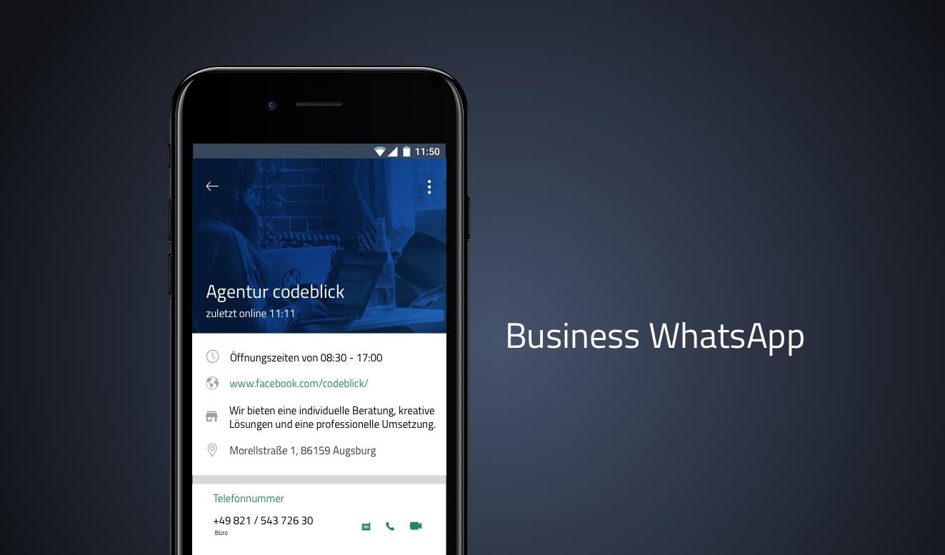 Die Digitalagentur codeblick berichtet in Ihrem neusten Beitrag über WhatsApp Business.