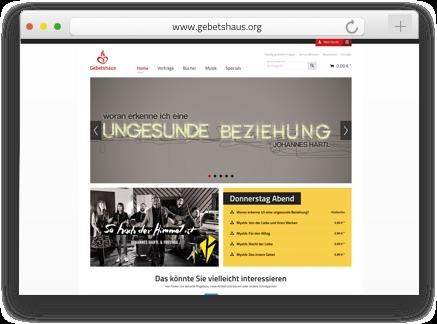 Der Gebetshaus Onlineshop wurde von der Shopware Agentur codeblick mit dem Shopsystem Shopware erstellt und aufgezogen.