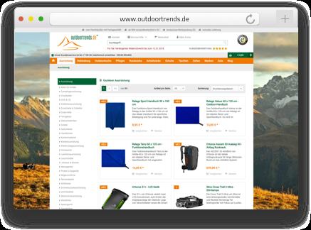 Der B2C Shopware Onlineshop outdoortrends wurde von der Shopware Agentur codeblick mit dem Shopsystem Shopware betreut als auch erstellt.